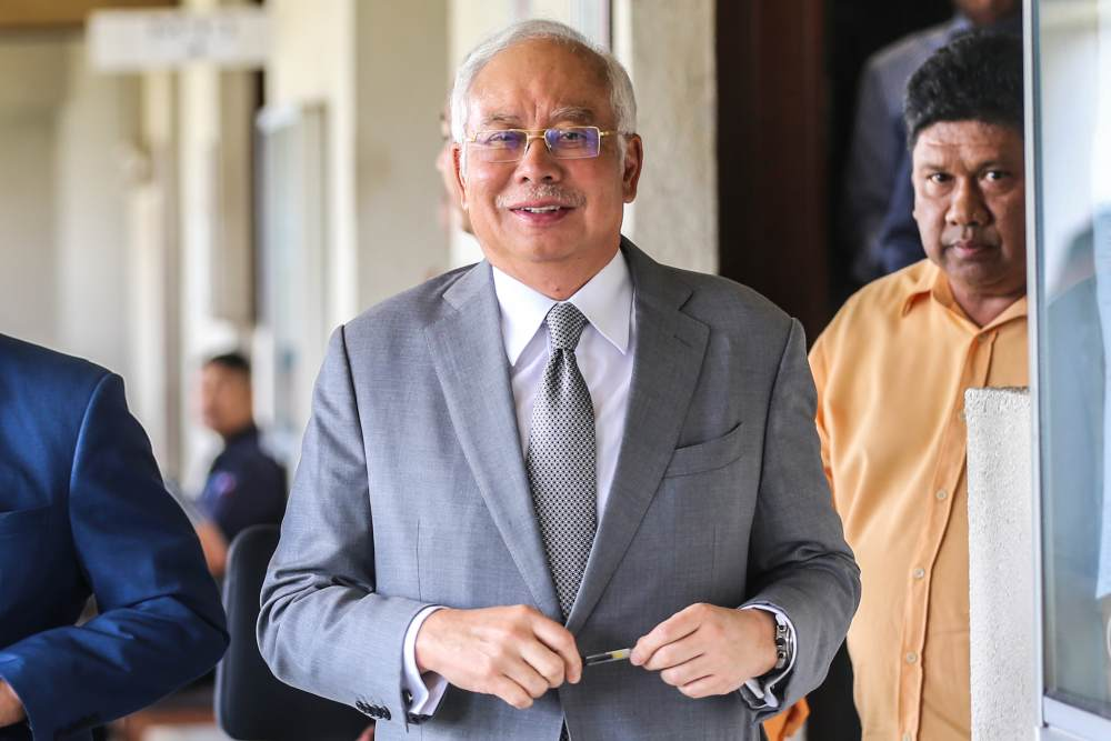 Datuk Seri Najib Razak is currently on trial for siphoning RM42 million from SRC International Sdn Bhd and is testifying in his own defence. ― Picture by Firdaus Latif