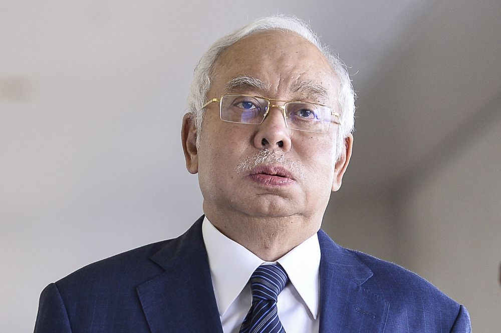 Najib questioned the logic behind the renewed MCO as to whether its objectives were actually meant to maintain control over the pandemic. — Picture by Miera Zulyana