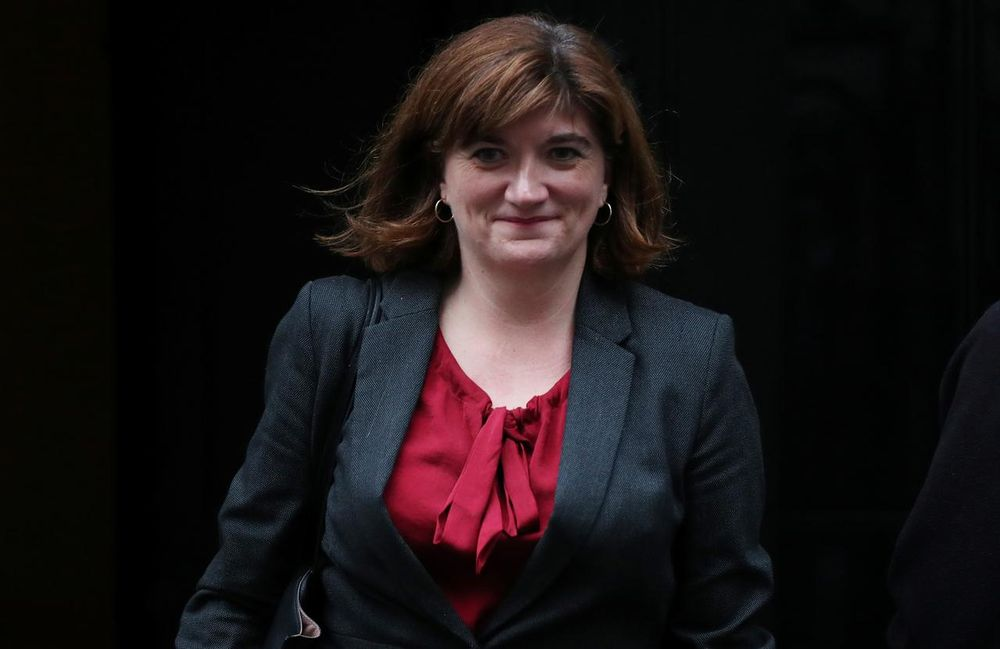 Britain's Digital, Culture, Media and Sport Secretary Nicky Morgan is seen outside Downing Street in London October 24, 2019. — Reuters pic