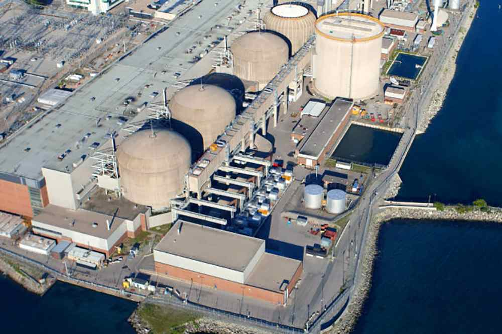 Pickering Nuclear Generating Station is seen in an undated aerial photo near Toronto, Ontario, Canada. — Ontario Power Generation handout via Reuters