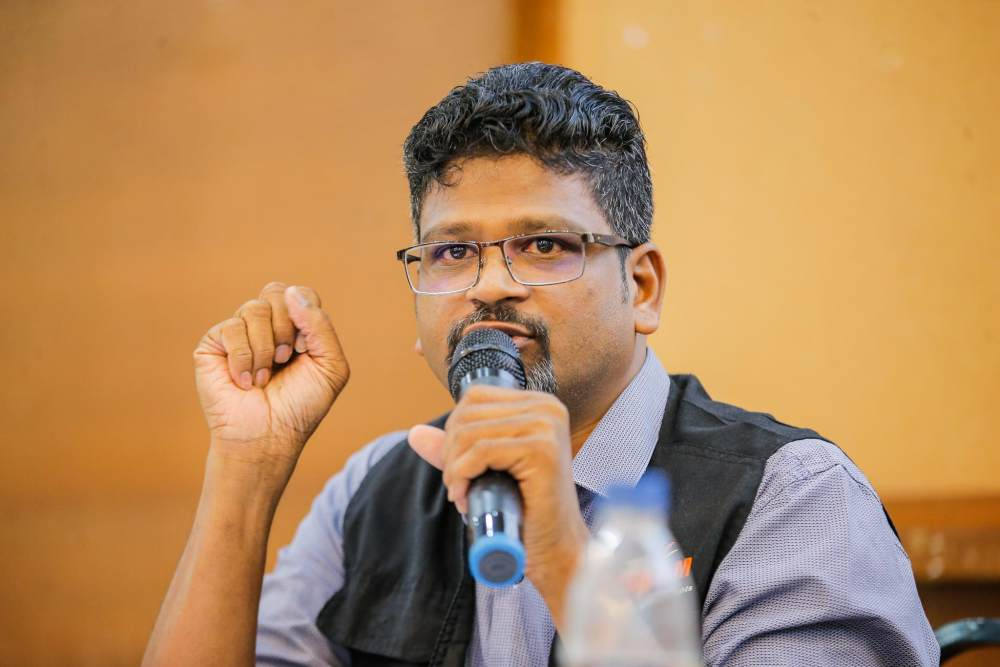 Suaram executive director Sevan Doraisamy says efforts to address human rights abuses have either stagnated or declined in 2020 following the takeover of the Perikatan Nasional administration. ― Picture by Hari Anggara
