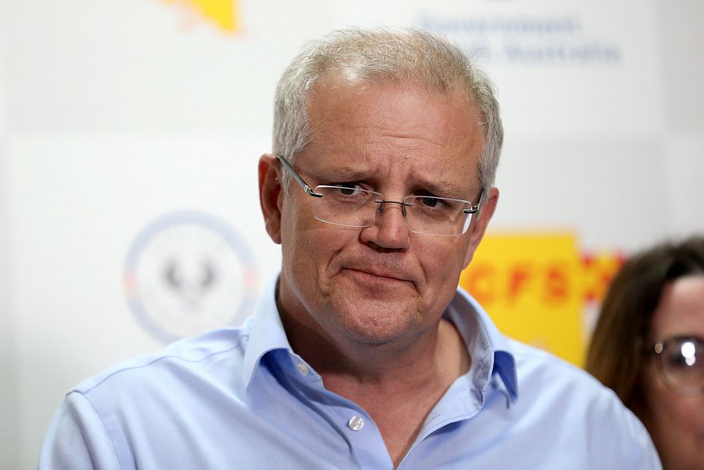 Prime Minister Scott Morrison said his government would overhaul the country's sexual discrimination laws to make members of parliament, judges and public servants accountable for harassing colleagues in the workplace. — AAP Image/Kelly Barnes via Reuters