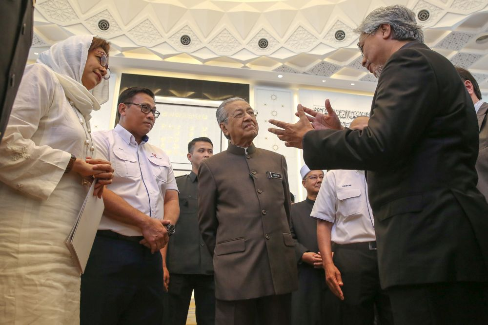Prime Minister Tun Dr Mahathir Mohamad attends the opening ceremony of Tenaga Nasional Berhad's Balai Islam Complex in Kuala Lumpur January 16, 2020. — Picture by Yusof Mat Isa