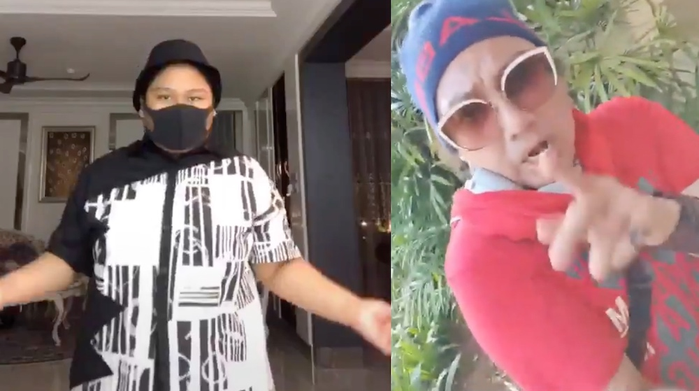 Cik B (left) has wielded the power of TikTok against Azwan Ali. — Pictures from Twitter/HavocCikb and YouTube/DivaAATersohor