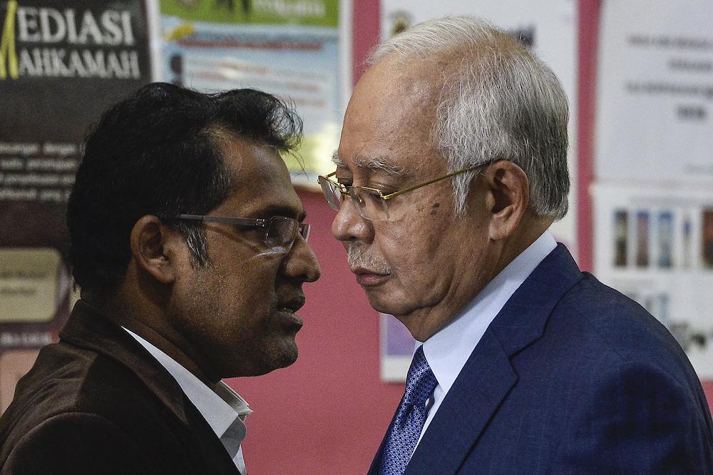 Datuk Seri Najib Tun Razak arrives at the Kuala Lumpur High Court, February 10, 2020. — Picture by Miera Zulyana