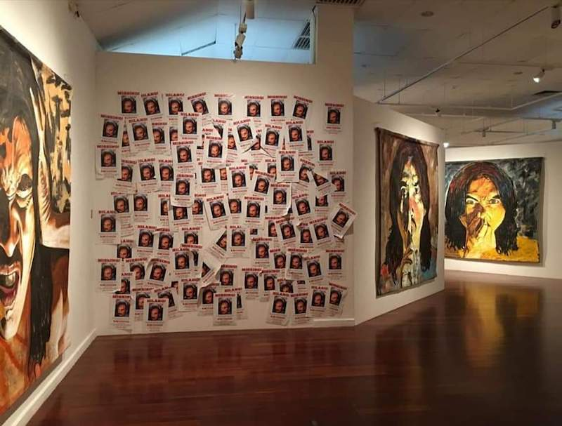 Artwork from Malaysian contemporary artist Ahmad Fuad Osman's solo exhibition at the National Art Gallery before it was removed. — Picture courtesy of Facebook/Ahmad Fuad Osman