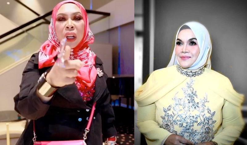Vida (left) took offence after Aishah uploaded a vague post that implied the Qu Puteh founder was getting what she deserved in her fight with Azwan. — Pictures from Instagram/datoserivida and Instagram/aishahjmm