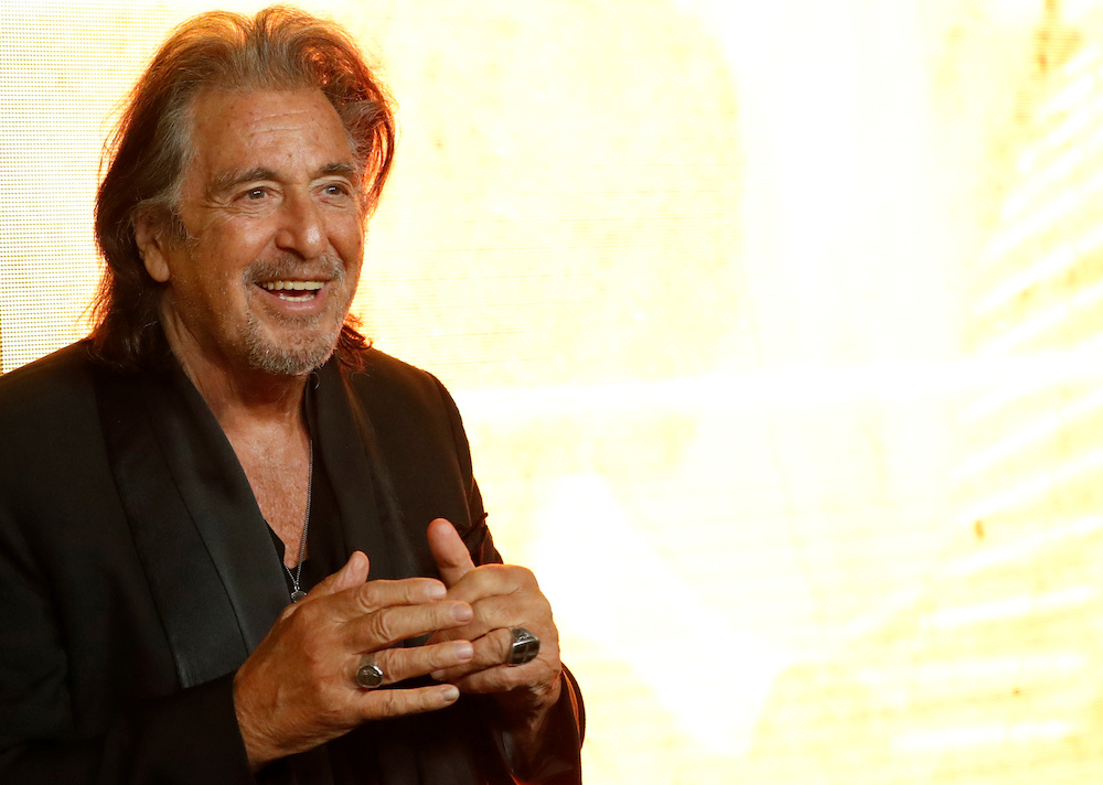 Cast member Al Pacino poses at a premiere for the television series 'Hunters' in Los Angeles, California February 19, 2020. — Reuters pic