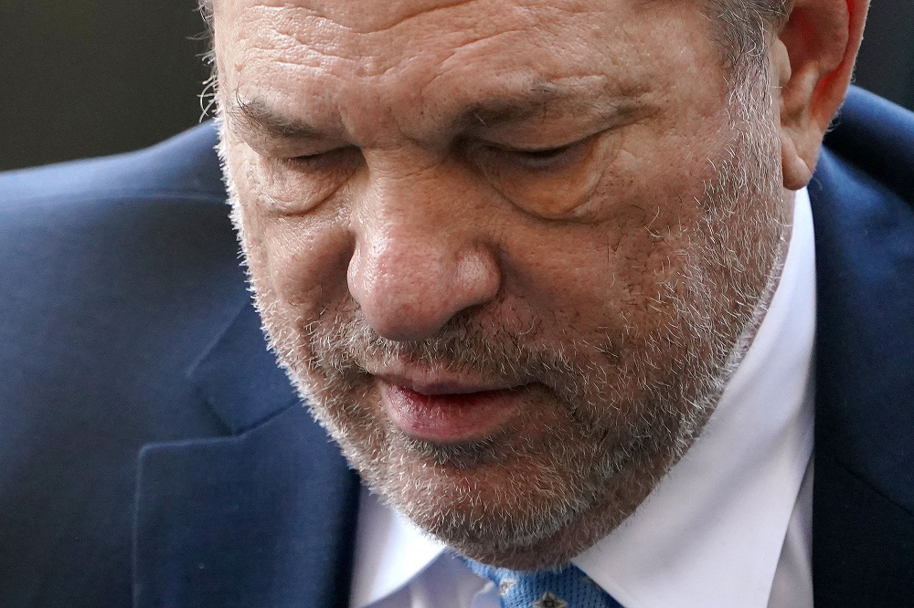 Film producer Harvey Weinstein leaves at New York Criminal Court for his sexual assault trial in the Manhattan borough of New York February 24, 2020. — Reuters pic