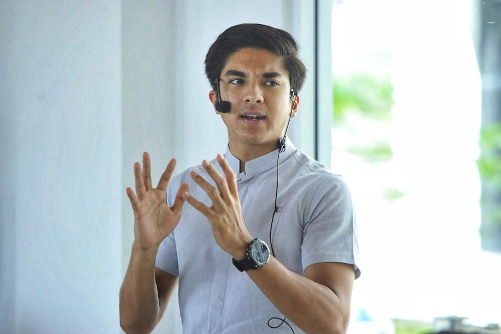 Youth and Sports Minister Syed Saddiq Abdul Rahman addresses a Malaysia Future Leaders School luncheon at the International Youth Centre in Kuala Lumpur February 2, 2020. — Picture by Shafwan Zaidon
