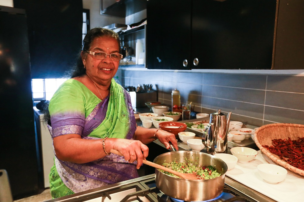 Parvathy said it is always important to use natural ingredients when cooking as it gives more flavour to the food. — Picture by Ahmad Zamzahuri