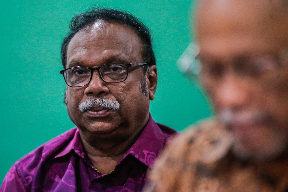 Subramaniam Ramasamy attends a press conference by ABIM in Kuala Lumpur February 6, 2020. — Picture by Hari Anggara