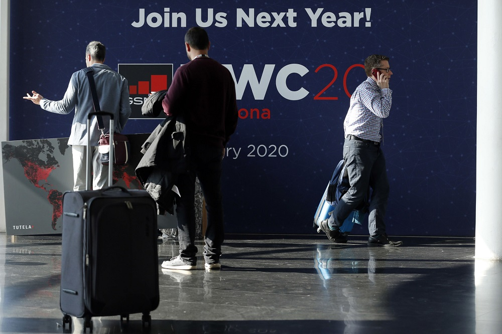 The 2020 Mobile World Congress continues to lose exhibitors in wake of the coronavirus outbreak. — AFP pic