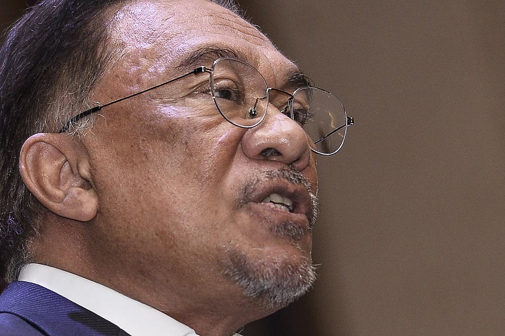 PKR's Datuk Seri Anwar Ibrahim had always assumed the position of de facto party leader since the party was formed in 1999. — Picture by Miera Zulyana