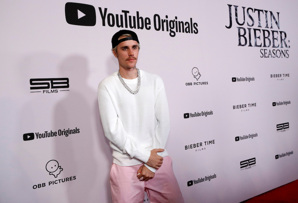 Singer Justin Bieber released a YouTube docuseries 'Seasons' in tandem with his work on his album 'Changes'. — Reuters pic