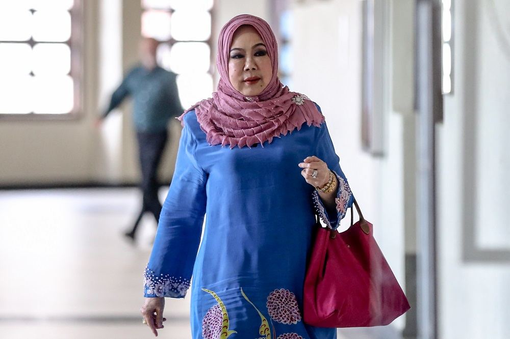 Former auditor-general Tan Sri Madinah Mohamad is pictured at the Kuala Lumpur High Court February 19, 2020. — Picture by Firdaus Latif