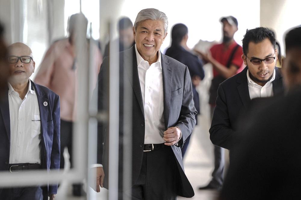 Datuk Seri Ahmad Zahid Hamidi is pictured at the Kuala Lumpur High Court February 19, 2020. — Picture by Shafwan Zaidon