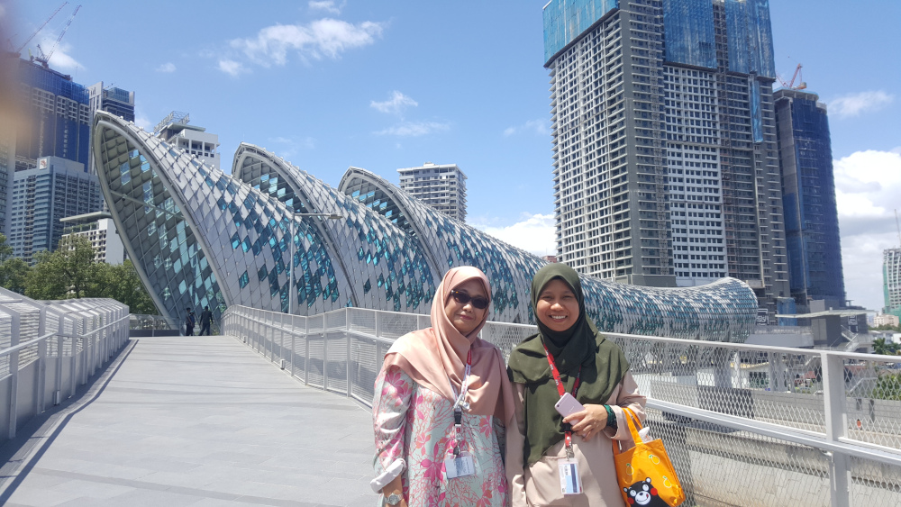 Colleagues Zarahyah Aziz (left) and Nina Abdullah took the walk to Kampung Baru to hunt for food. — Picture by R. Loheswar