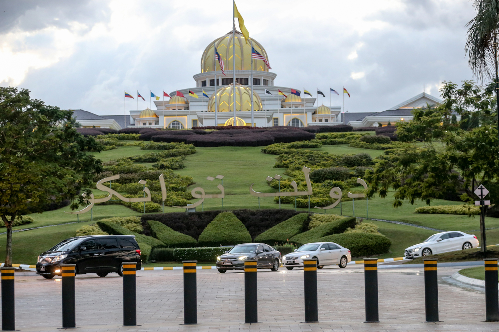 Amanah said they are confident that the Agong will uphold the institution of parliamentary democracy while saving the Constitutional Monarch from being dragged into disputes and political ploys of the current administration. — Picture by Firdaus Latif