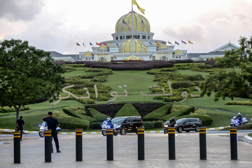 Istana Negara said Yang di-Pertuan Agong Al-Sultan Abdullah Ri'ayatuddin Al-Mustafa Billah Shah had ordered the postponement in line with the enforcement of the CMCO until June 9 to curb the spread of Covid-19. — Picture by Firdaus Latif