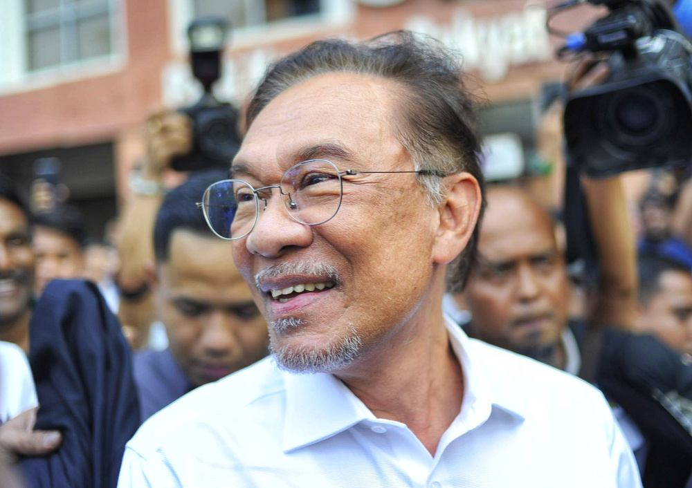 Sarawak PKR information and communication chief Abun Sui Anyit said it is in the best interests of the people that Datuk Seri Anwar Ibrahim be the prime minister should Pakatan Plus regain control of Putrajaya. — Picture by Shafwan Zaidon