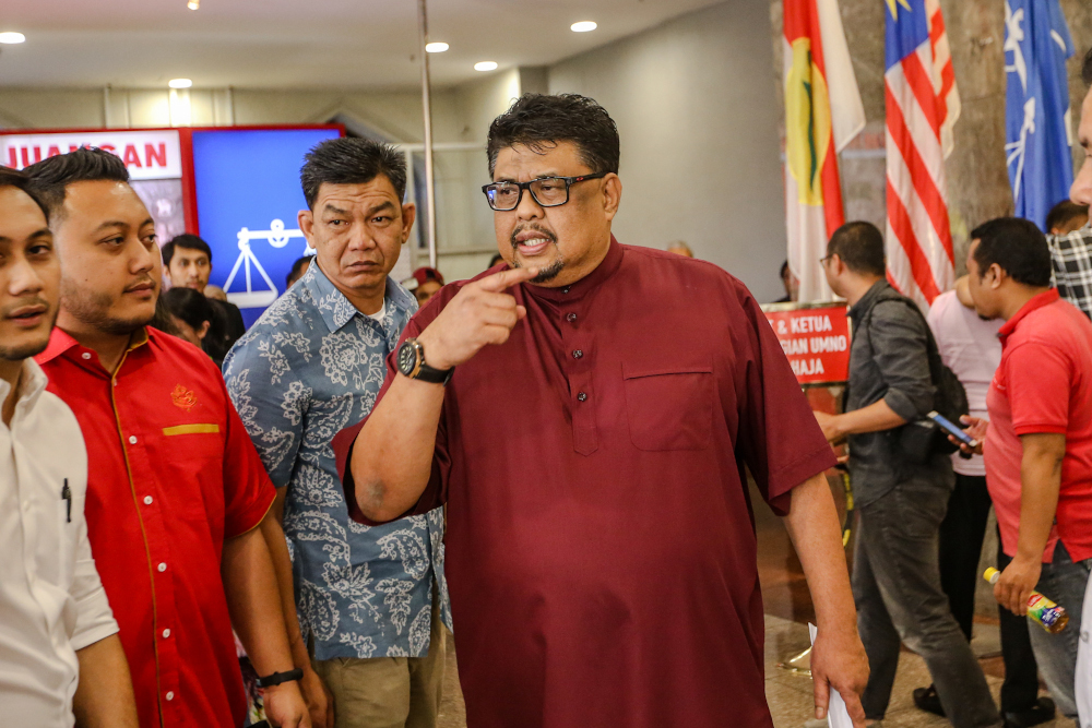 The legitimacy of Melaka Umno Liaison Committee chairman Datuk Seri Ab Rauf Yusoh as the State Assembly Speaker will be challenged by Pakatan Harapan. — Picture by Firdaus Latif