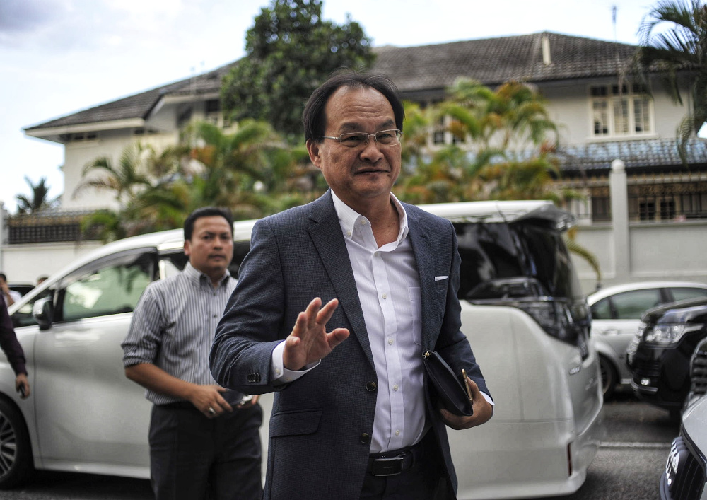 Baru said the wing questioned the need for a new 10-storey building when there was already a commercial property glut in Kuching. — Picture by Shafwan Zaidon