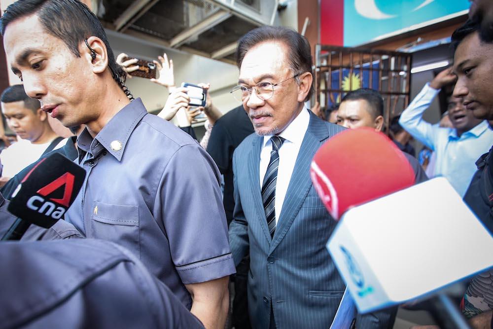 希盟国会议员一致举荐安华为希盟政府的首相人选。-Hari Anggara摄-