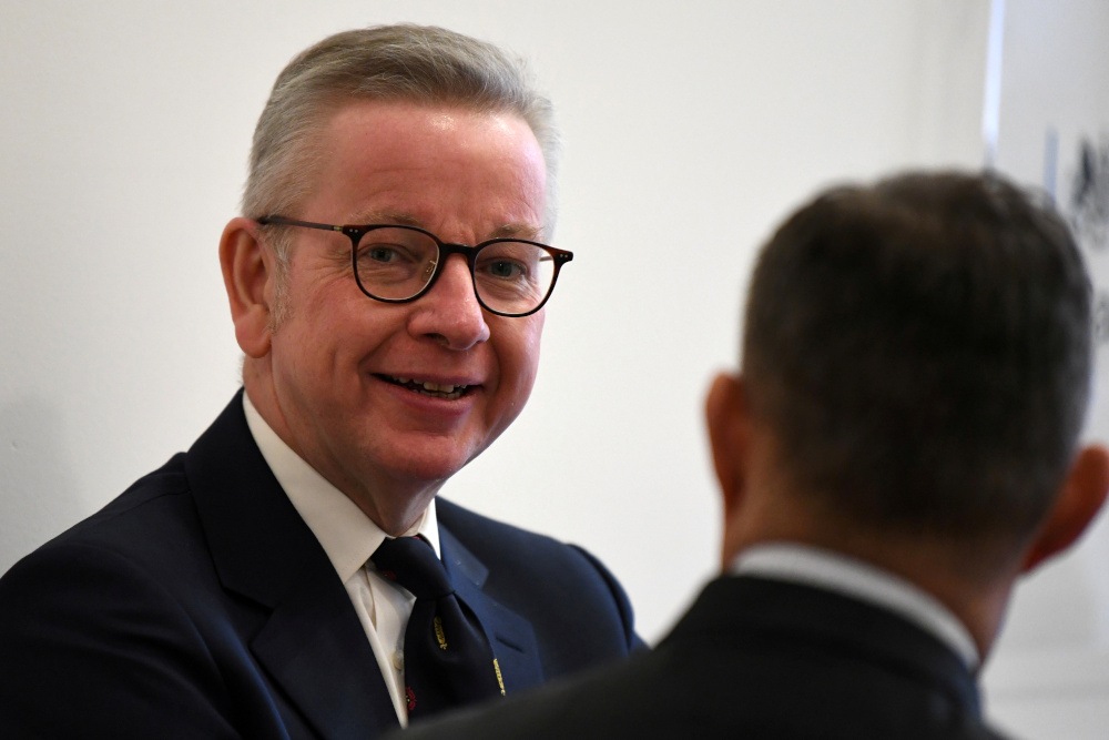Michael Gove said progress had been made with the European Union and believed the two sides would clinch a free trade agreement. — Reuters pic