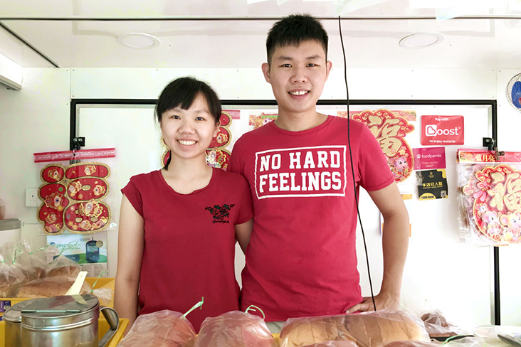 Lee Zhi Huey (or Mia) and her boyfriend Sam Chuah run DougHappy from a food truck. – Pictures by Kenny Mah and courtesy of DougHappy Food