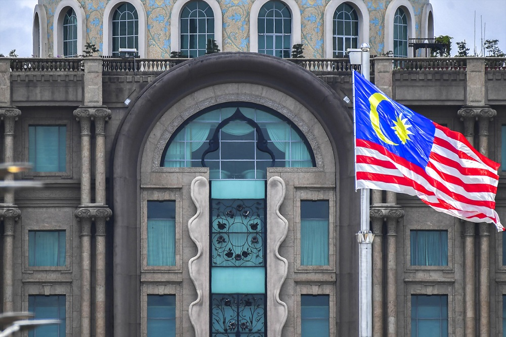 A general view of the Perdana Putra building which houses the Prime Minister's Office on the fifth floor, in Putrajaya February 25, 2020. — Bernama pic