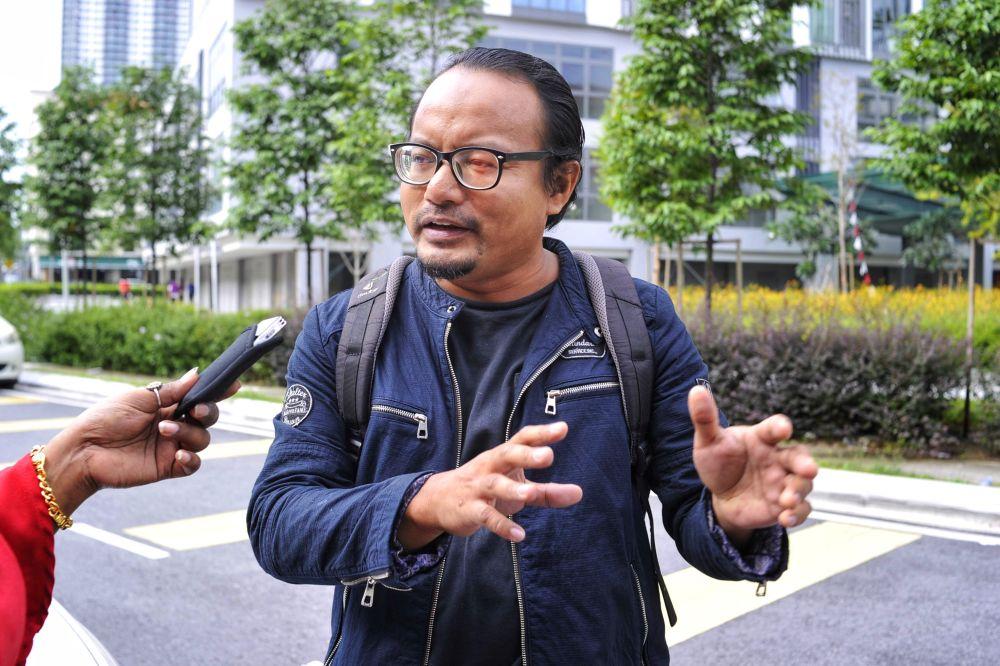 Artist Fadzlan Rizan Johani speaks during an interview at Jalan Klang Lama, February 12, 2020. — Picture by Shafwan Zaidon