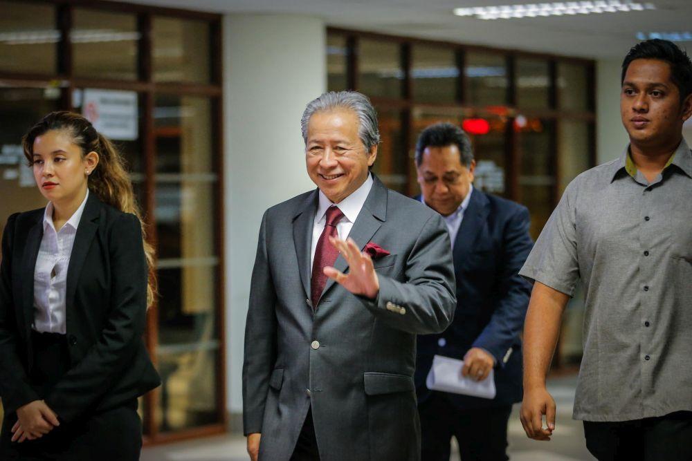 Datuk Seri Anifah Aman arrives at the Kuala Lumpur Court Complex on February 13, 2020. ― Picture by Hari Anggara