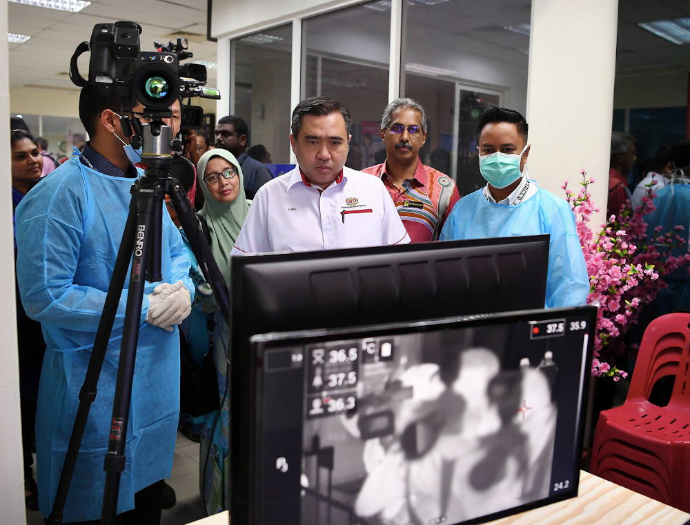 Transport Minister Anthony Loke during his working visit to the Boustead Cruise Centre Terminal in Port Klang February 13, 2020. — Bernama pic