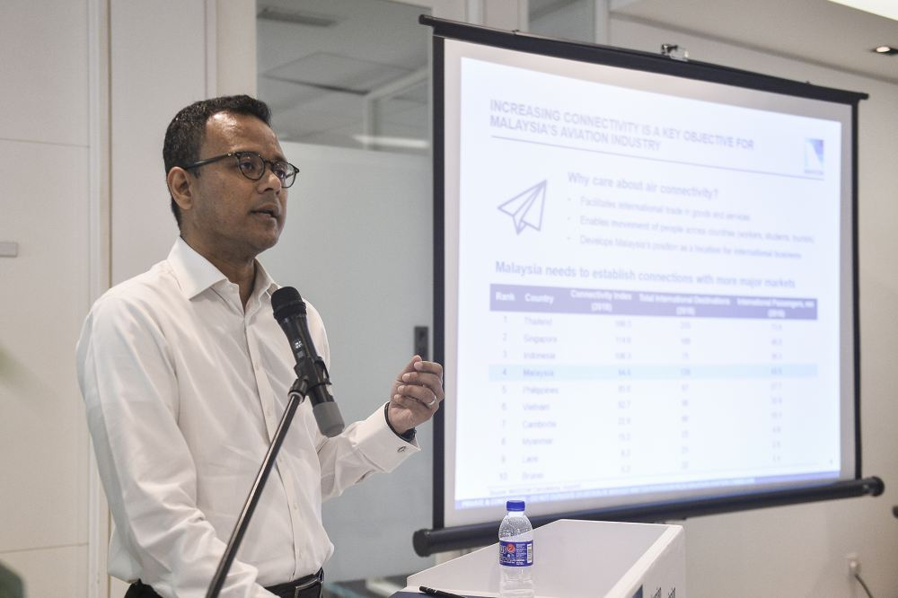 Chief operations officer Azmir Zain said that Malaysia Airports (Sepang) Sdn Bhd (MA Sepang) had already paid its RM856,875 penalty due to failure in meeting targets set by Mavcom. ― Picture by Miera Zulyana