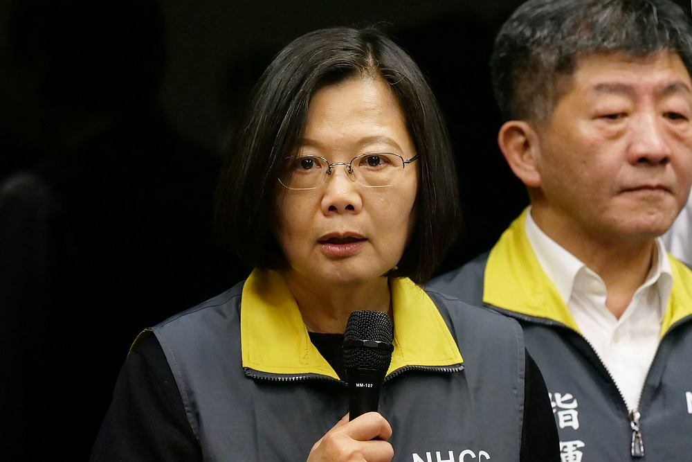 Taiwan President Tsai Ing-wen said the country would propose an 'action plan of humanitarian relief' for Hong Kong citizens. — Reuters pic