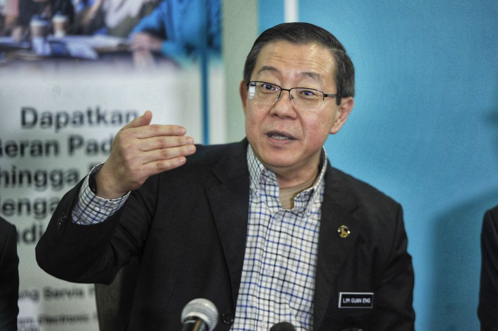 DAP's Lim Guan Eng claimed that the prime minister does not have confidence in winning the Budget 2021 vote in Parliament. — Picture by Shafwan Zaidon