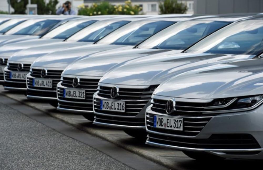Arteon cars by German carmaker Volkswagen are pictured during a media presentation in Hanover, Germany, May 31, 2017. — Reuters pic