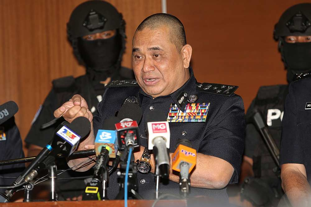 Federal CID director CP Datuk Huzir Mohamed the police press conference in Bukit Aman, Kuala Lumpur February 17, 2020. — Picture by Choo Choy May