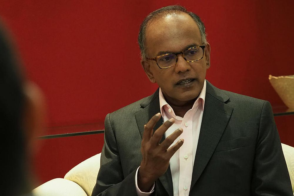 Law Minister K Shanmugam (pictured) said that a provision in October 2020 allowing boyfriends and girlfriends of Singapore residents to enter the country was scrapped in March 2021. — TODAY file pic