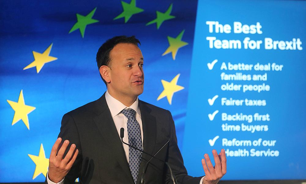 Leo Varadkar, the Irish Prime Minister and leader of the Fine Gael party, speaks at the launch of his party's manifesto for the Irish General Election in Dublin, Ireland January 24, 2020. — Reuters pic