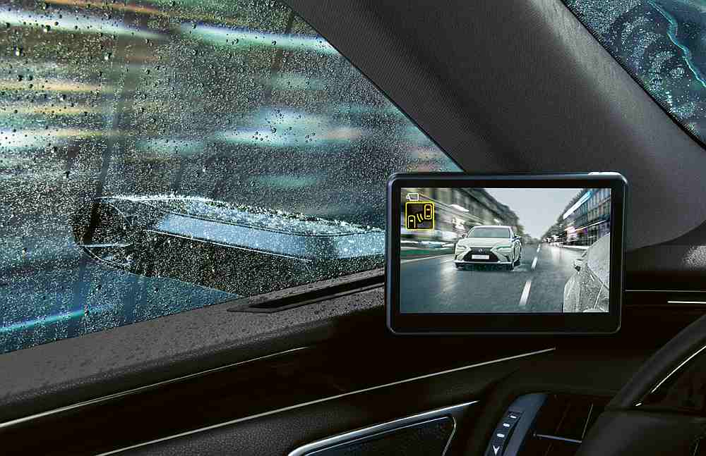 The new side-view cameras will be available on the Lexus ES 300h. — Picture courtesy of Lexus via AFP