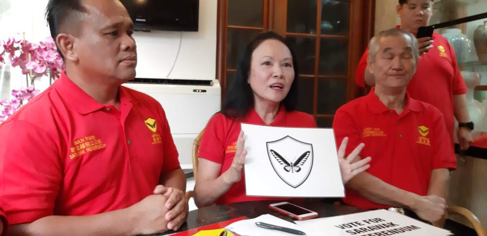 Aspirasi president Lina Soo (centre) suggested this could be done by passing legislation in the State Legislative Assembly to repudiate the Petroleum Development Act (PDA) and Territorial Sea Act (TSA). ― Picture by Sulok Tawie