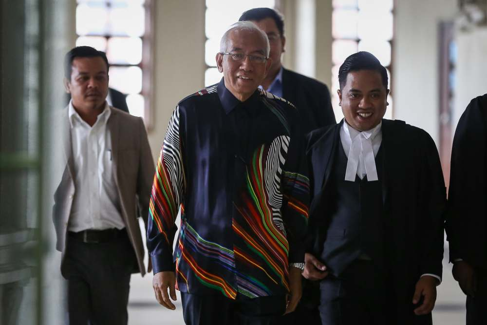 Former education minister Datuk Seri Mahdzir Khalid is pictured at the Kuala Lumpur High Court Complex, February 12, 2020. ― Picture by Yusof Mat Isa