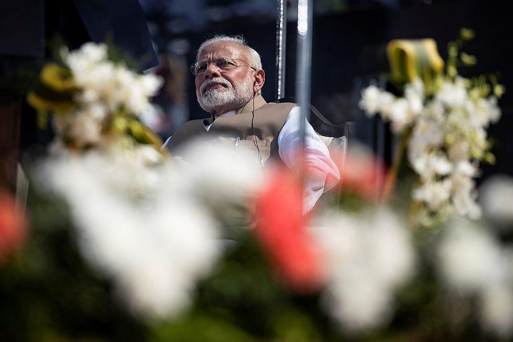 Indian Prime Minister Narendra Modi during a 'Namaste Trump' event at Sardar Patel Gujarat Stadium, in Ahmedabad February 24, 2020. — Reuters pic