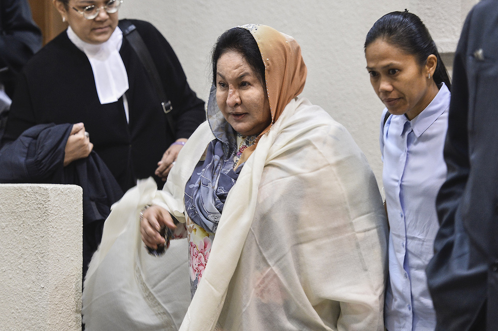 Datin Seri Rosmah Mansor is facing a charge of soliciting RM187.5 million, and two charges of receiving a bribe of RM6.5 million from Jepak Holdings Sdn Bhd managing director Saidi Abang Samsudin through her then aide Datuk Rizal Mansor as gratification for helping the company secure the RM1.25 billion project. — Picture by Miera Zulyana