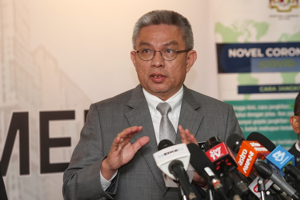 Health Minister Datuk Seri Dr Adham Baba said the allegation was baseless as Malaysia introduced MCO to save everybody from Covid-19, regardless of whether the person is a citizen or not. — Picture by Choo Choy May
