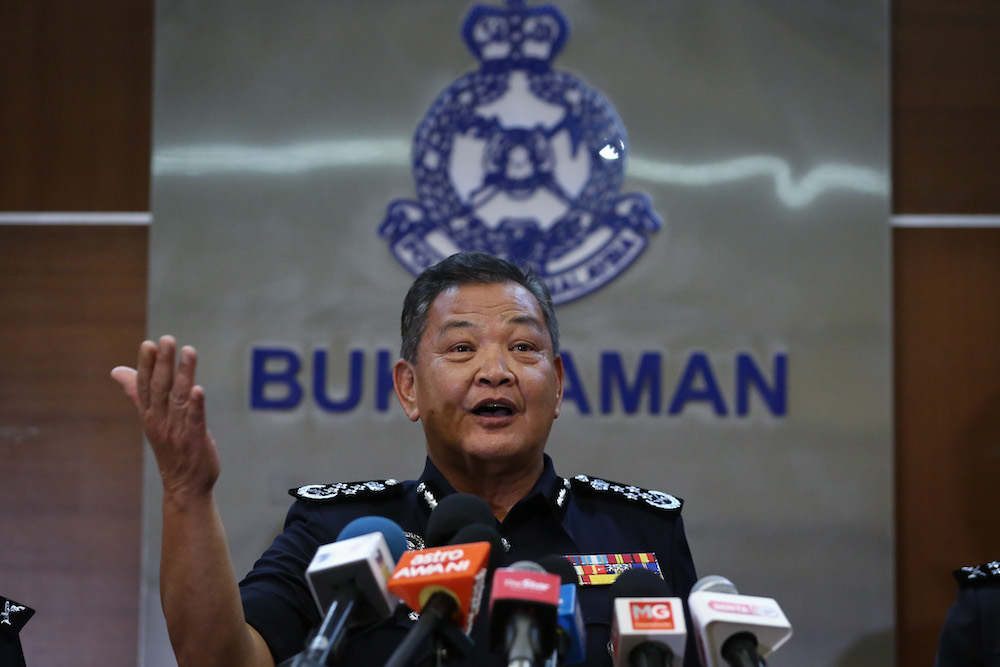 Inspector-General of Police (IGP) Tan Sri Abdul Hamid Bador said the order was implemented for the sake of national security and public safety. — Picture by Yusof Mat Isa