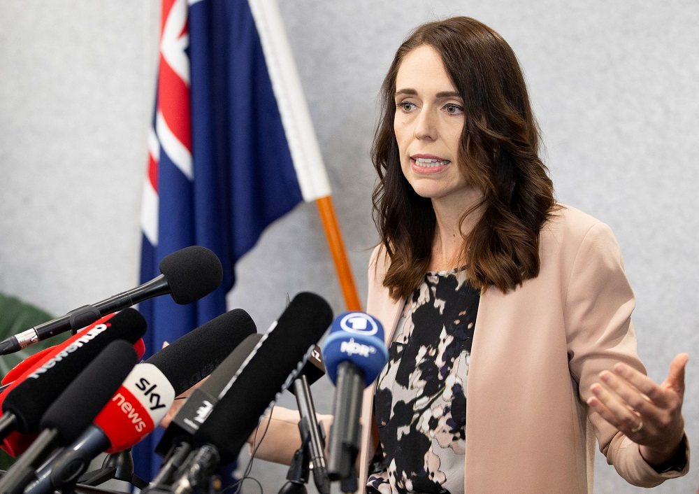 """New Zealand Prime Minister Jacinda Ardern said the epidemic was now """"exploding"""" outside New Zealand and countries that had been models in the fight against Covid-19 had now experienced further community outbreaks. — Reuters pic"""