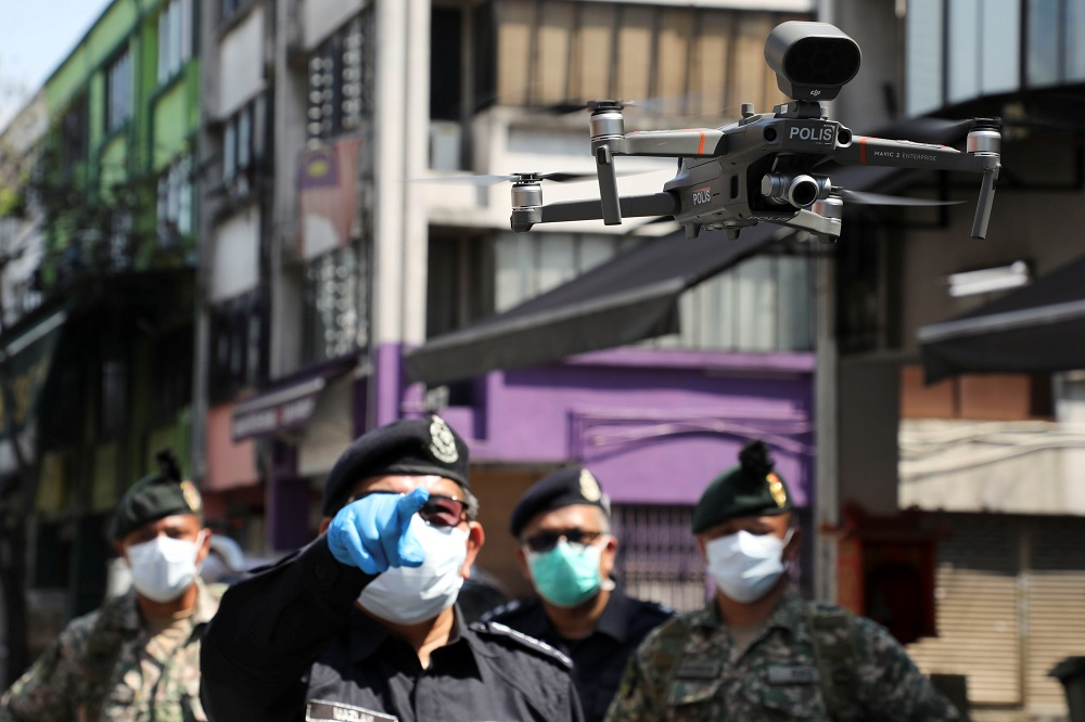 Armed Forces Chief General Tan Sri Affendi Buang said the police and Armed Forces will be using the devices to increase efficiency in monitoring the public's compliance with the MCO. — Reuters pic